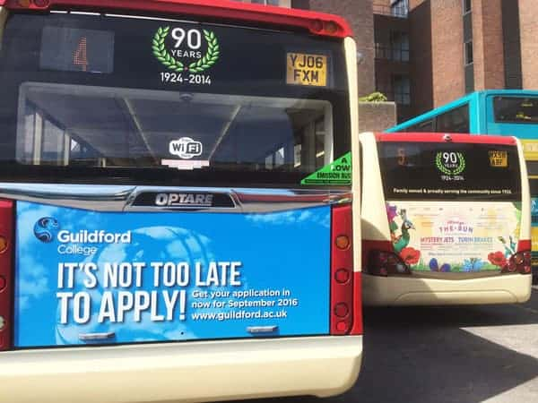 Advertise on Guildford Buses