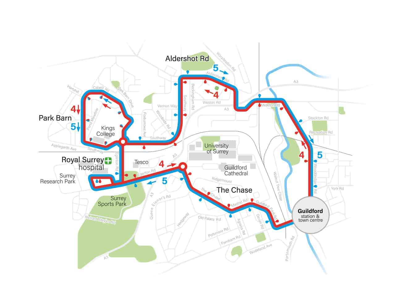 Guildford Route Map